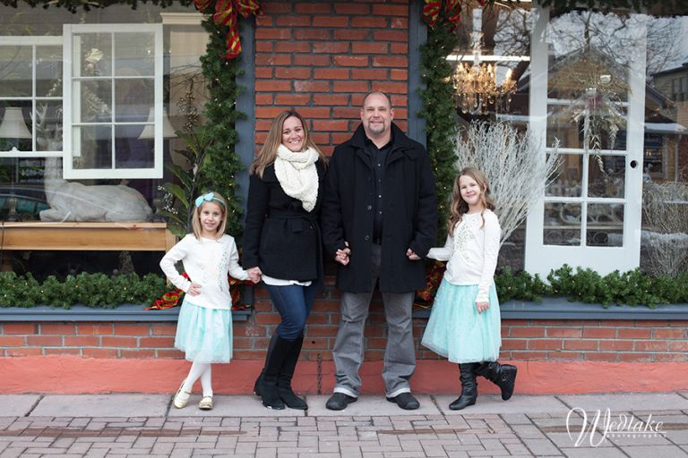 Holiday portrait olde town arvada co