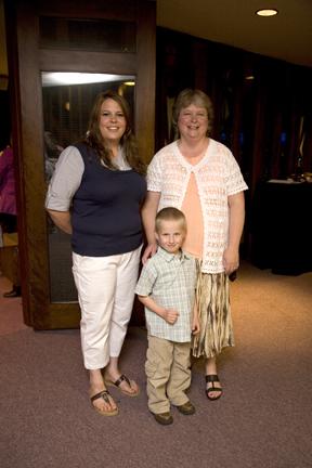 Luke with his teachers -Miss Liz and Miss Paula