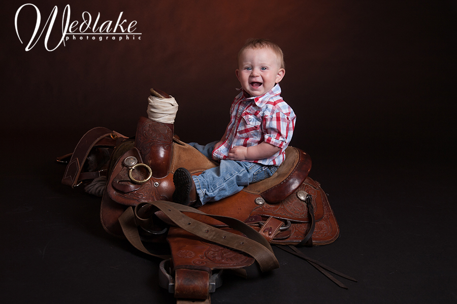 baby picture western theme