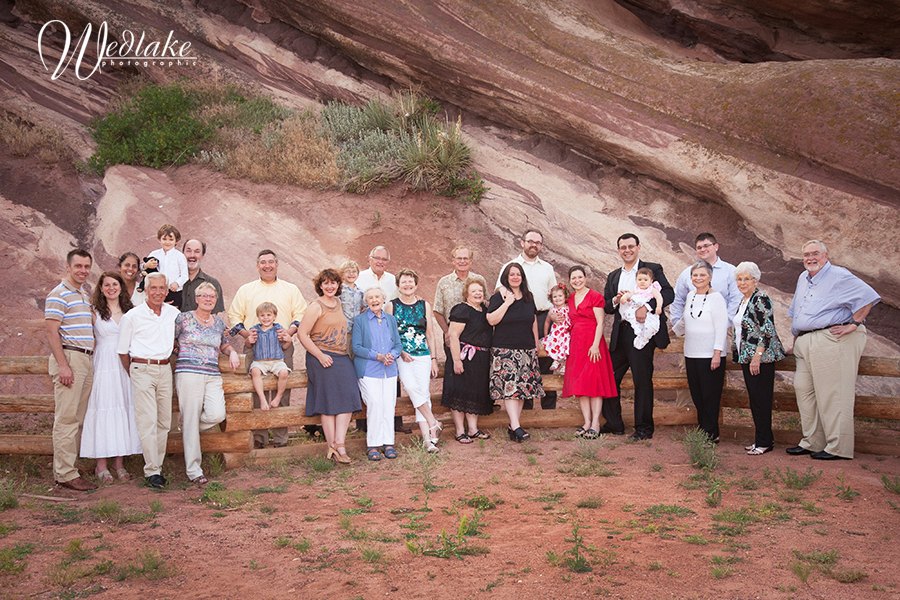 family pictures at the Fort Morrison CO