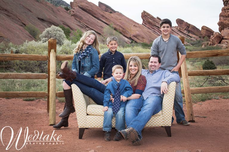 Red Rocks CO Family Photos