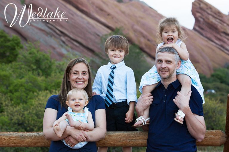 family portrait photography Red Rocks CO
