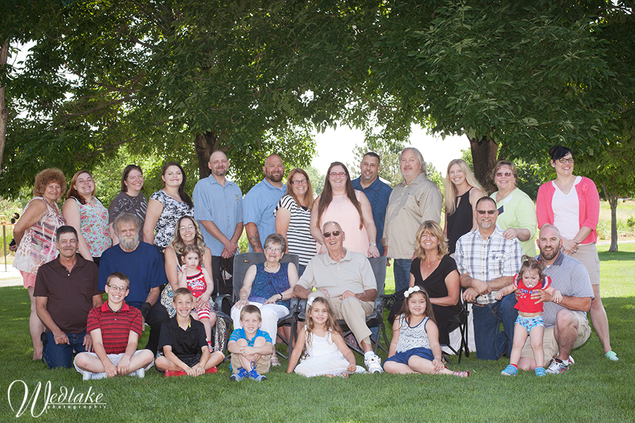large family portrait golden co