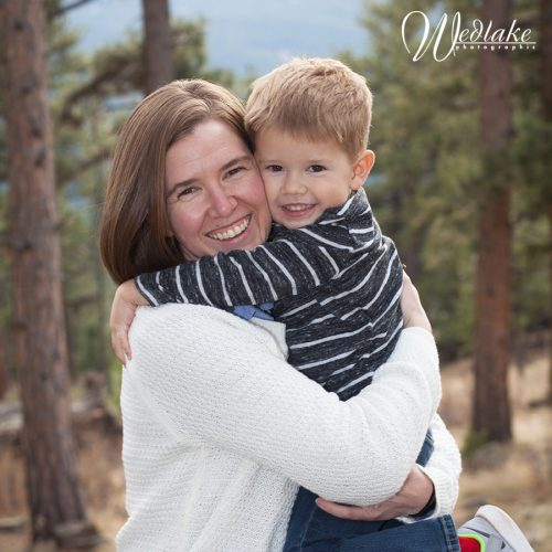 outdoor family photography mountains CO