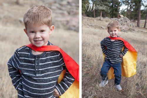 superhero kid photo